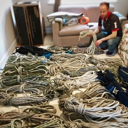 Coralee's ropes at home